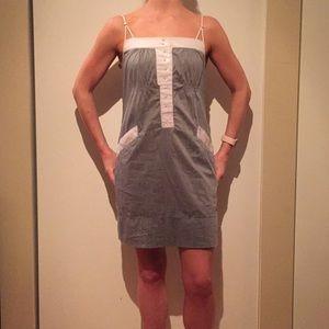 BCBG maxAzria XS grey and white dress